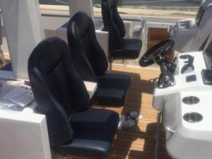 Custom Upholstery & Canvas Work at the CAY Marine Boatyard Miami