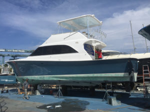 53 ocean renovation at the CAY Marine Boatyard Miami