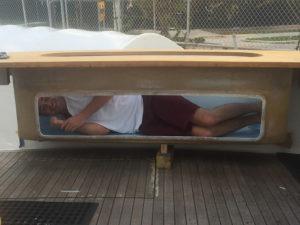 custom live bait wells work at the CAY Marine Boatyard Miami