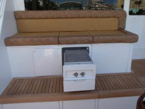 Custom mezzanine barbecue storage work at the CAY Marine Boatyard Miami