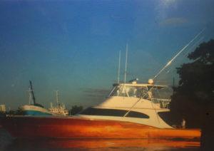 Custom metallic paint work at the CAY Marine Boatyard Miami