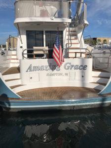 Ocean alexander complete renovation at the CAY Marine Boatyard Miami